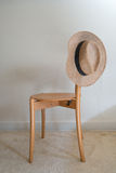Straw Fedora Hat Royalty Free Stock Images