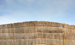 Straw fence royalty free stock images