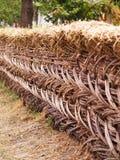 Straw fence Royalty Free Stock Photos