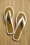 Straw flip flops Stock Photos