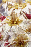Straw flowers. Royalty Free Stock Image