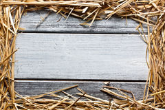 Straw frame Royalty Free Stock Photos