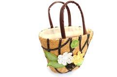 Straw handbag Royalty Free Stock Photo