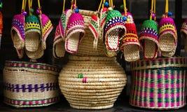 Straw Handicrafts Jinli Street Sichuan China royalty free stock photo