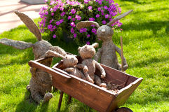 Straw hares. Stock Photo