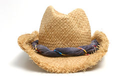 Straw hat. Over white background Royalty Free Stock Photography
