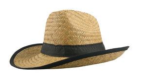 Straw hat. Isolated in white background Stock Photography