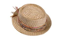 Straw Hat 2. A womens straw hat Stock Photography