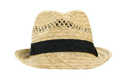 Straw hat. Isolated on a white background Stock Image