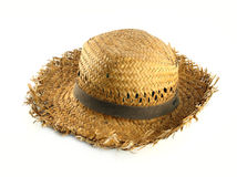 Straw hat. On white background Royalty Free Stock Photo