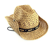 Straw hat. On white background Stock Photo