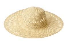 Straw hat. Isoated on white background Stock Photography