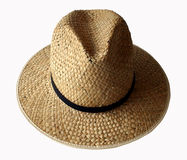 Straw Hat. This is a close-up of a straw hat Stock Photos