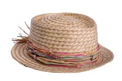 Straw Hat. A womens straw hat Stock Image