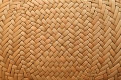 Straw hat. Part of a straw hat close up Stock Photography