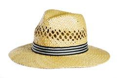 Straw Hat. Isolated on white background stock photo