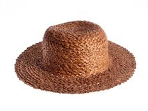 Straw Hat. An isolated photo of old polish straw hat Stock Photography