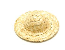 Straw hat. This is a photo of a straw hat Stock Photography