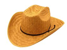 Straw Hat. Cowboy Hat, Straw Stock Photography