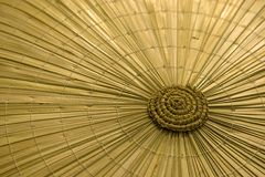 Straw hat. Texture of traditional asian straw hat Royalty Free Stock Images