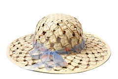 Straw hat. Straw hat - souvenir from the island of Bali Stock Image