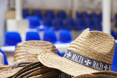 Straw hat as a souvenir in Malta Royalty Free Stock Images