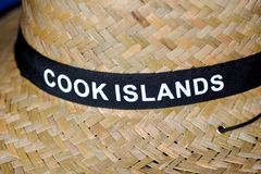 Straw hat from Cook Islands royalty free stock image