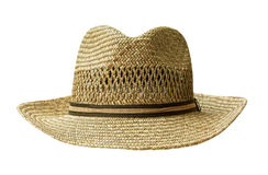Straw hat cut out on white Stock Images
