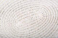 Straw Hat, detalhe do teste padrão do Weave do redemoinho Foto de Stock Royalty Free