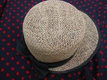 Straw Hat en lunares Fotografía de archivo