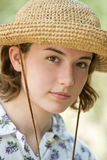 Straw Hat Girl Royalty Free Stock Photos