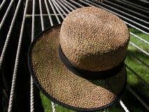 Straw Hat on Hammock Royalty Free Stock Image