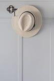 Straw hat hanging Royalty Free Stock Photo