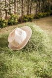 Straw hat on the hay Royalty Free Stock Photo