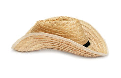Straw hat isolated Stock Images