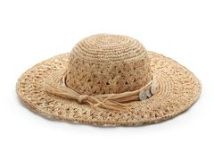 Straw hat isolated Royalty Free Stock Photos