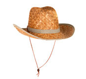 Straw hat isolated Stock Photography