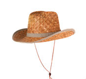 Straw hat isolated Royalty Free Stock Photo