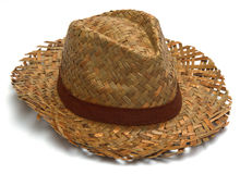 Straw hat isolated Royalty Free Stock Images