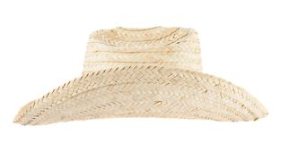 Straw hat isolated Stock Photo