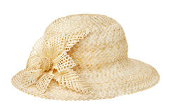 Straw hat, isolated Stock Photography