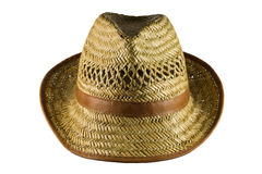 Straw hat isolated on white stock images