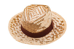 Straw hat isolated Stock Image