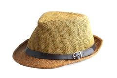Straw hat isolated on white. Background Royalty Free Stock Image