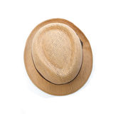 Straw hat. Isolated on a white background Royalty Free Stock Photos