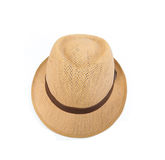 Straw hat. Isolated on a white background Stock Images
