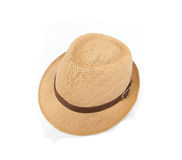 Straw hat. Isolated on a white background Stock Photo