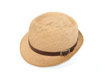 Straw hat. Isolated on a white background Royalty Free Stock Images