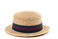 Straw hat. Isolated on white. Image with clipping path Stock Photography
