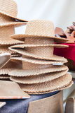 Straw Hat on the market Royalty Free Stock Photo